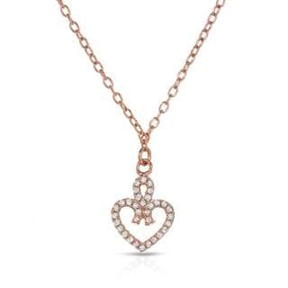 Gold over Silver McCarney & J Cubic Zirconia Necklace