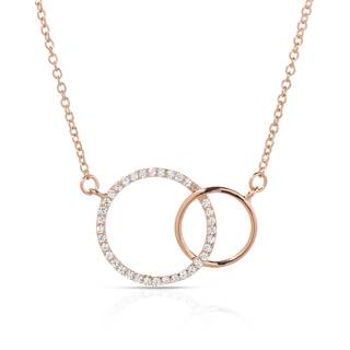 McCarney & J Gold over Silver Cubic Zirconia Necklace
