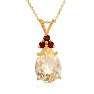 Gold over Silver 7 1/2ct TW Citrine Necklace