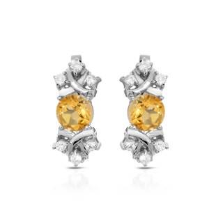 Sterling Silver 2 2/5ct TW Citrine Earrings