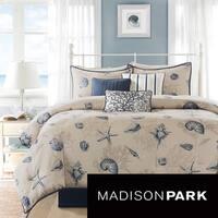 Madison Park Nantucket 7-piece Queen Size Comforter Set (As Is Item)