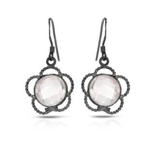 Sterling Silver 5 7/8ct TW Quartz Earrings