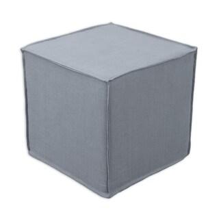 Circa Solid Charcoal 17-inch Square Seamed Foam Ottoman