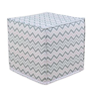 Zoom Zoom Bella 12.5-inch Square Seamed Foam Ottoman