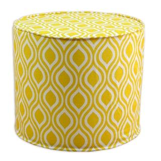 Nichole Corn Yellow 20-inch Round x 17-inch High Corded Foam Ottoman