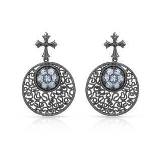Sterling Silver 2 1/4ct TW Topaz Earrings