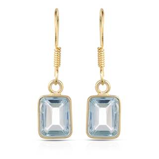 Gold over Silver 5 1/2ct TW Topaz Earrings