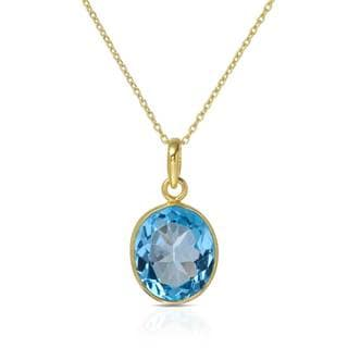 Gold over Silver 8 5/8ct TW Topaz Necklace