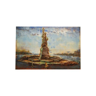 Modern Metal Art 'Statue of Liberty' Wall Sculpture Home Decor