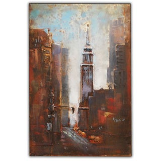 Modern Metal Art 'Empire State Building' Wall Sculpture Home Decor