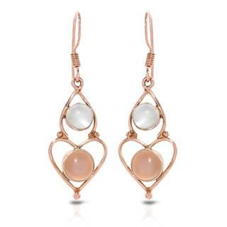 Gold over Silver 5ct TW Moonstone Earrings