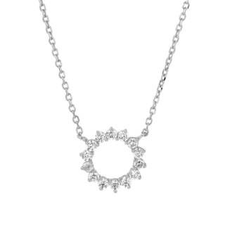McCarney & J Sterling Silver Cubic Zirconia Necklace