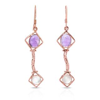 Gold over Silver 6 1/10ct TW Amethyst Earrings