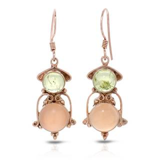 Gold over Silver 9 5/8ct TW Moonstone Earrings