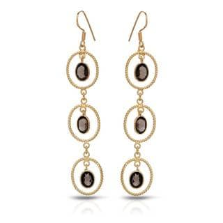 Gold over Silver 6 4/5ct TW Topaz Earrings