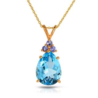 Gold over Silver 10 1/6ct TW Tanzanite Necklace