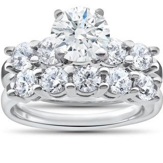 14k White Gold 2 1/2ct TDW Diamond Clarity Enhanced Five Stone Wedding & Engagement Ring Set|https://ak1.ostkcdn.com/images/products/12202634/P19049783.jpg?_ostk_perf_=percv&impolicy=medium