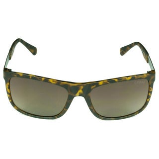 Guess Men's Brown Plastic/Acetate Oval Sunglasses