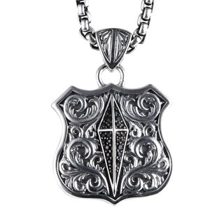 Stephen Webster Highwayman Sterling Silver Black Sapphire Pendant Necklace