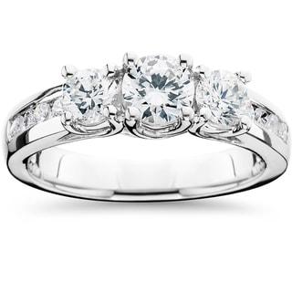 Link to 14k White Gold 1 3/4ct TDW 3-Stone Diamond Engagement Ring Similar Items in Wedding Rings