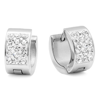 Stainless Steel Cubic Zirconia Elements Huggies