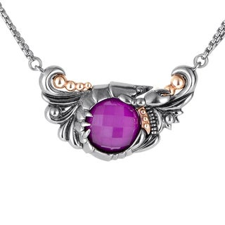 Stephen Webster Jewels Verne Silver Quartz & Sugilite Pendant Necklace