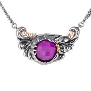 Stephen Webster Jewels Verne Silver Quartz & Sugilite Pendant Necklace