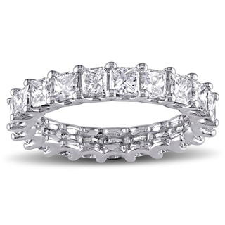 Miadora Signature Collection Platinum 3 1/10ct TDW Princess-Cut Diamond Full Eternity Ring (G-H, VS1-VS2)