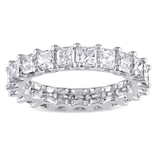 Miadora Signature Collection Platinum 3 1/6ct TDW Princess-cut Diamond Full Eternity Band