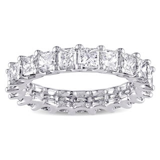 Miadora Signature Collection Platinum 3 1/6ct TDW Princess-cut Diamond Full Eternity Band