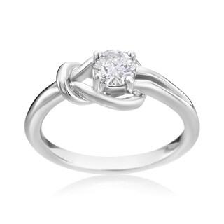 Andrew Charles 14k White Gold 1/2ct Diamond Knot Ring