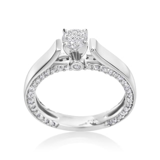 Andrew Charles 14k White Gold 1ct TDW Diamond Engagement Ring
