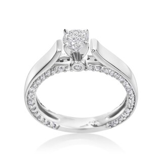Andrew Charles 14k White Gold 1ct TDW Diamond Engagement Ring