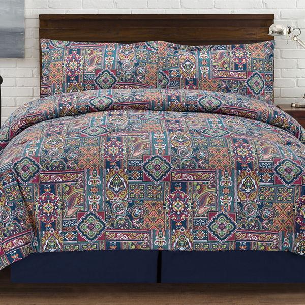 Tao Jewel Tones 4-piece Comforter Set