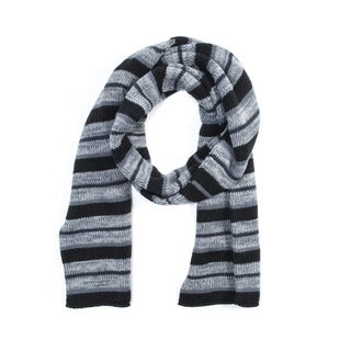 Muk Luks Men's Acrylic Striped Reversible Scarf