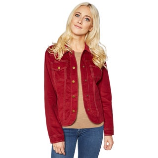 Live A Little Women's Red Cotton Jacket