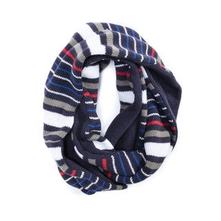 Muk Luks Men's Acrylic Striped Reversible Eternity Scarf