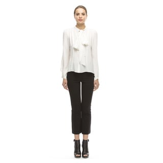 Walter Baker Theo Off-white Silk Top