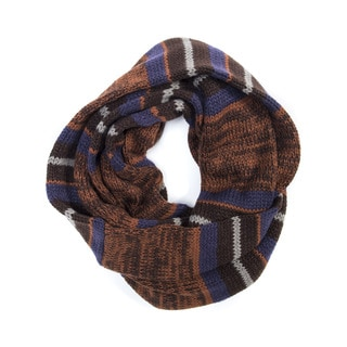 Muk Luks Men's Acrylic Reversible Eternity Scarf
