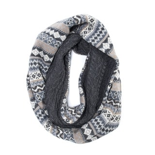Muk Luks Men's Acrylic Fairisle Reversible Eternity Scarf