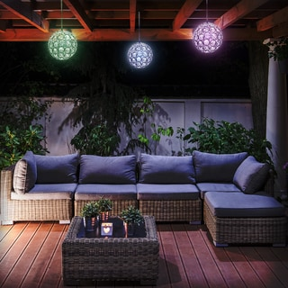 Solar LED Concepts Hanging Sparkling Crystal Ball