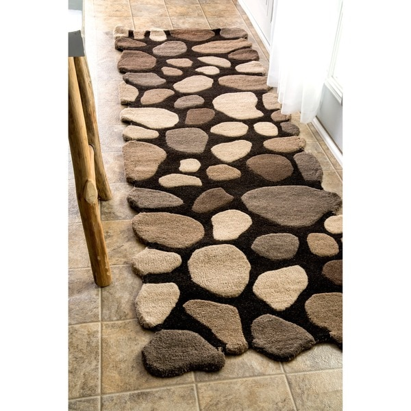 Shop NuLOOM Hand-carved Stones And Pebbles Wool Runner Rug
