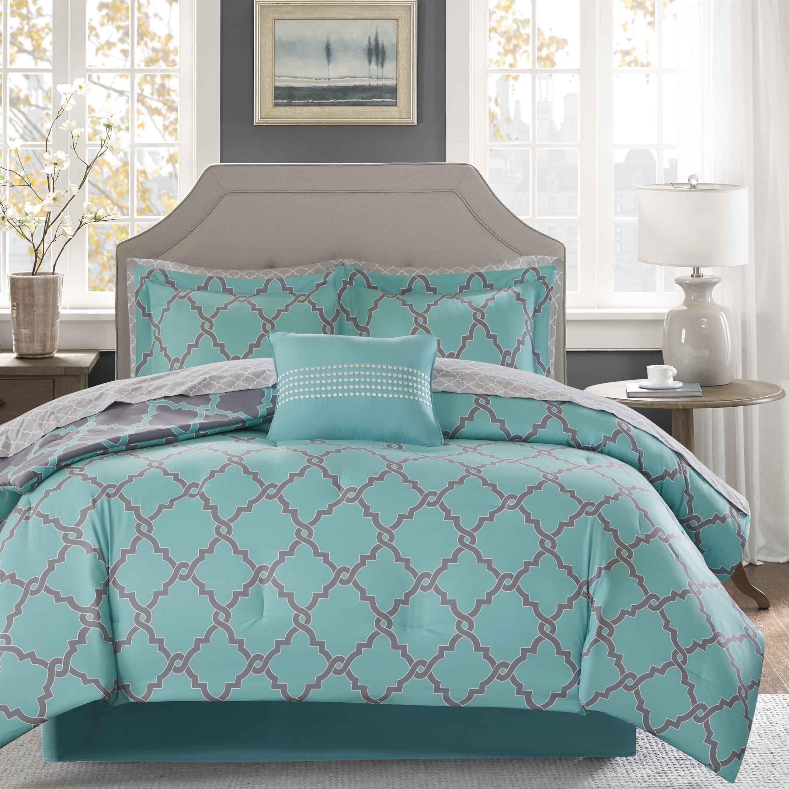 on piece set ravello bath product bedding bed pintuck decor overstock lush shipping free comforter com