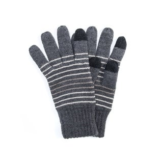 Muk Luks Men's Acrylic Striped Texting Gloves