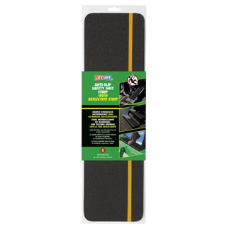 "Incom RE631RS 6"" X 21"" Reflective Yellow & Black Anti Slip Safety Tape"