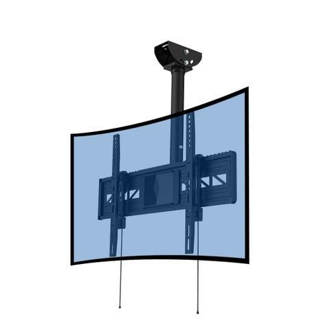 Loctek CM3 Black Steel Full-motion Curved TV Mount