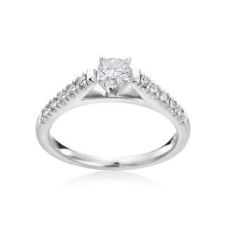 Andrew Charles, 14k White Gold 1/2ct TDW Diamond Engagement Ring