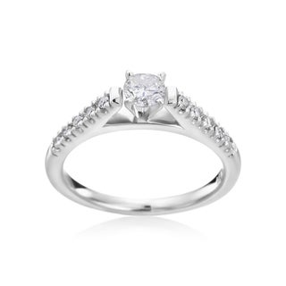 Andrew Charles, 14k White Gold 1/2ct TDW Diamond Engagement Ring