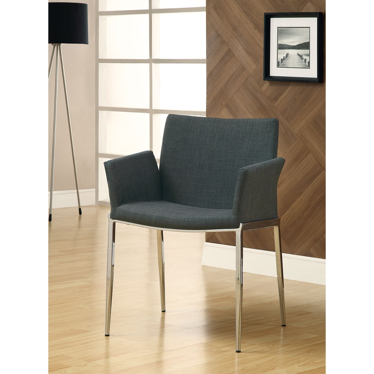 Coaster Furniture Charcoal (Grey) Dining Chair (Chair) (F...