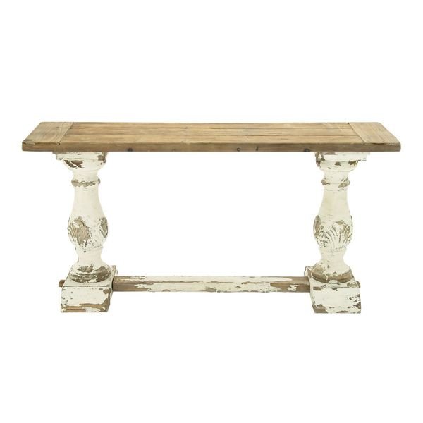 Wood console table 59 inches wide x 29 inches high for 10 inch wide console table